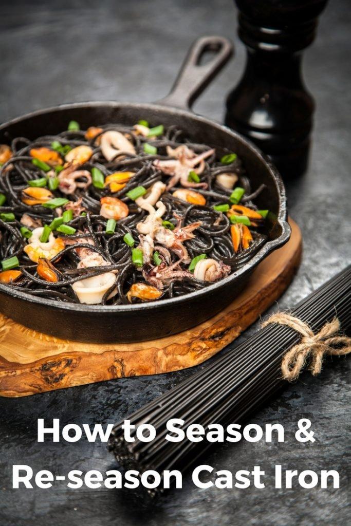 How to season or re-season a cast iron skillet