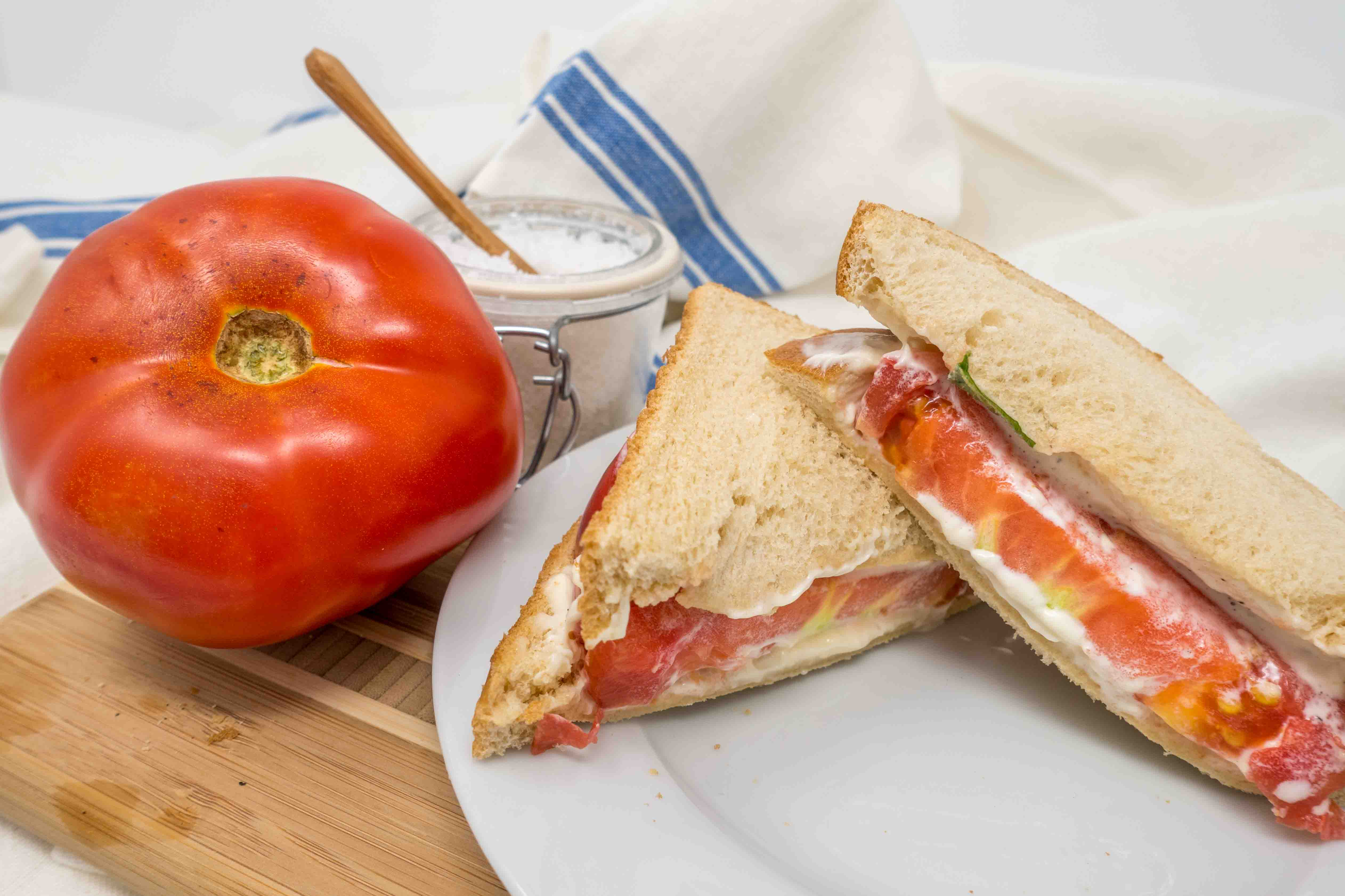 Southern tomato sandwiches are one of the best foods of summer