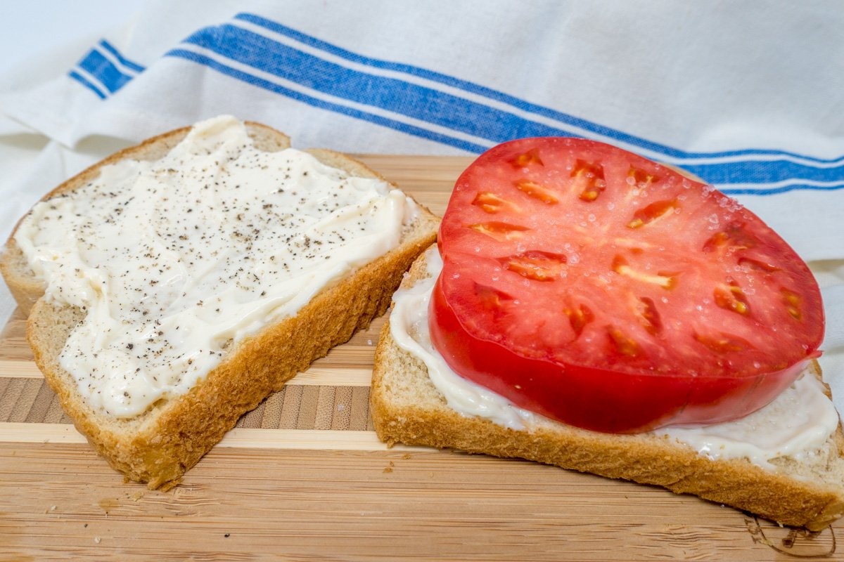 Use Hellmann's, Dukes mayo, and salt and pepper on your tomato sandwich
