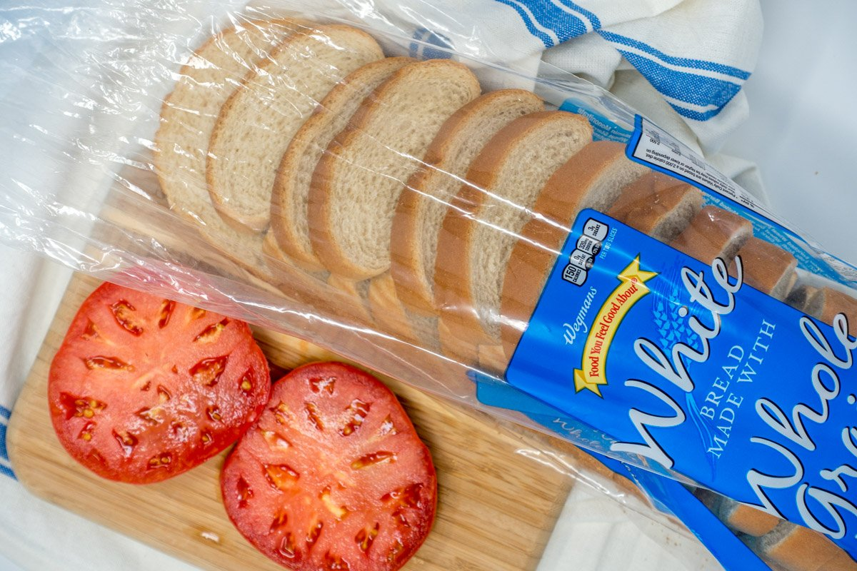 How to make a tomato sandwich? Start with white bread and great tomatoes