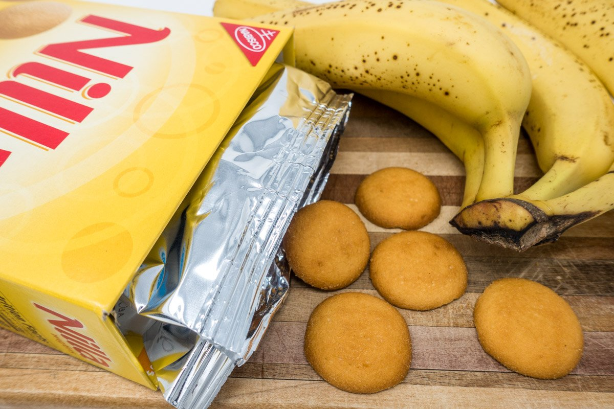The best banana pudding recipe from scratch includes ripe bananas, Nilla wafers, and homemade vanilla pudding and whipped cream