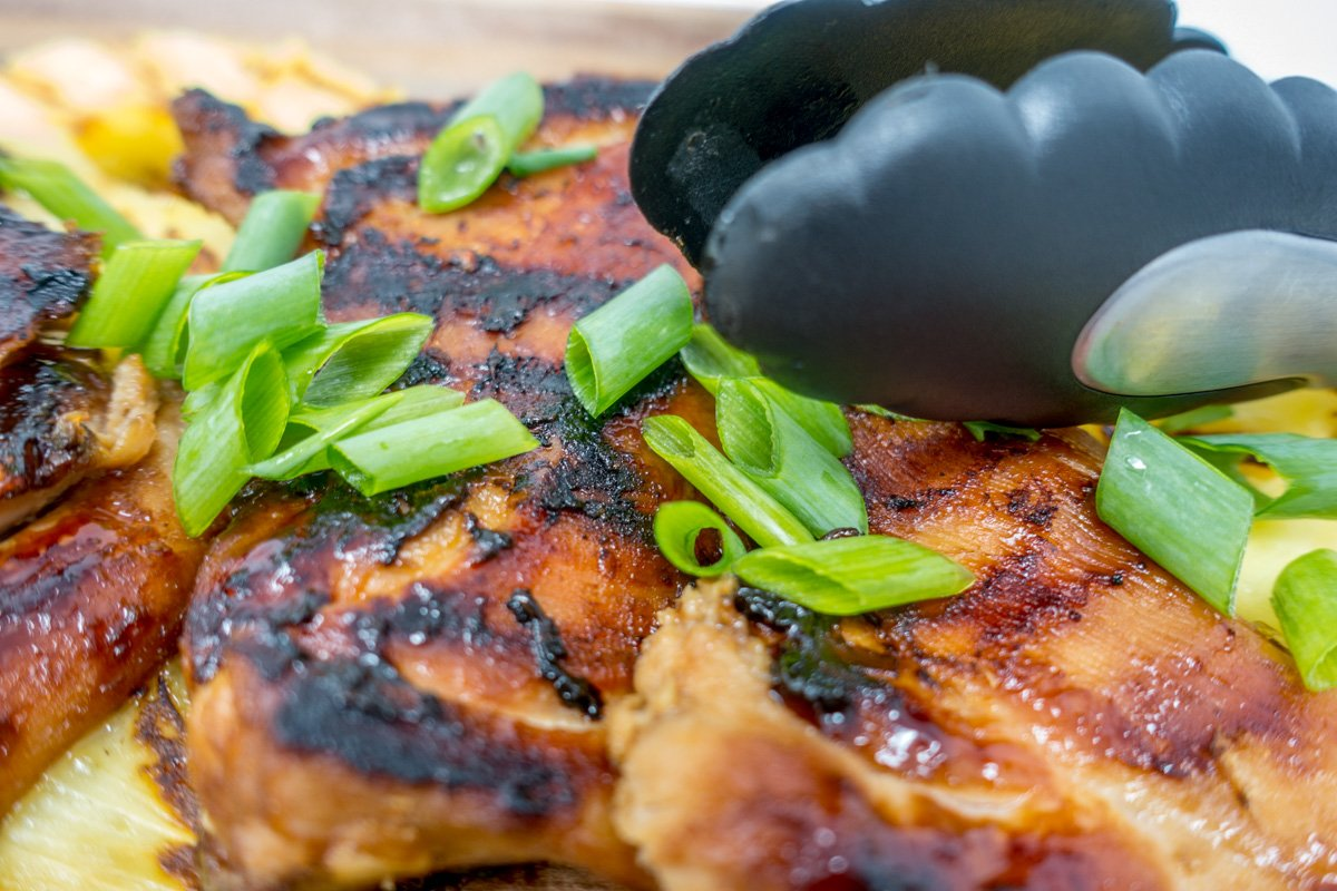 This Hawaiian grilled chicken recipe includes fresh pineapple