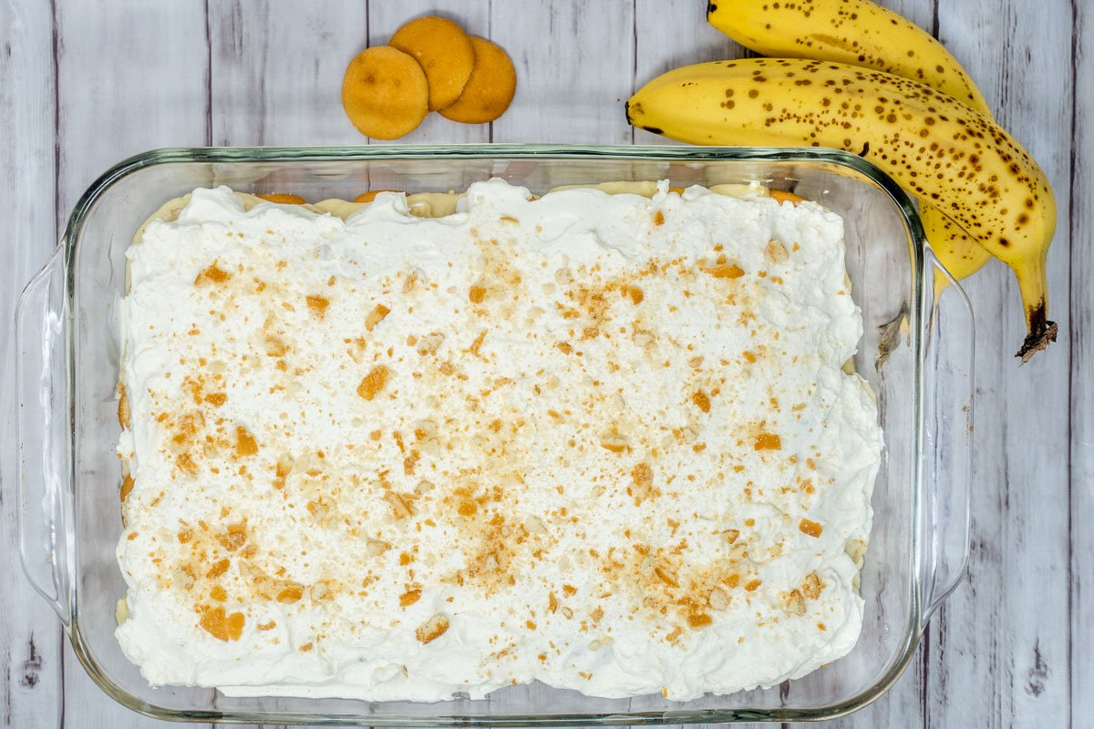 Old Fashioned Homemade Banana Pudding with Whipped Cream