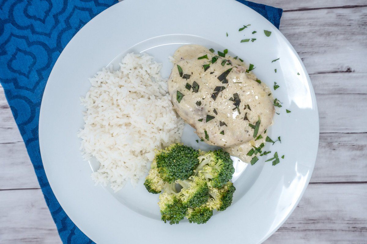 Try this delicious ranch pork chops with creamy mushroom sauce recipe for an easy dinner