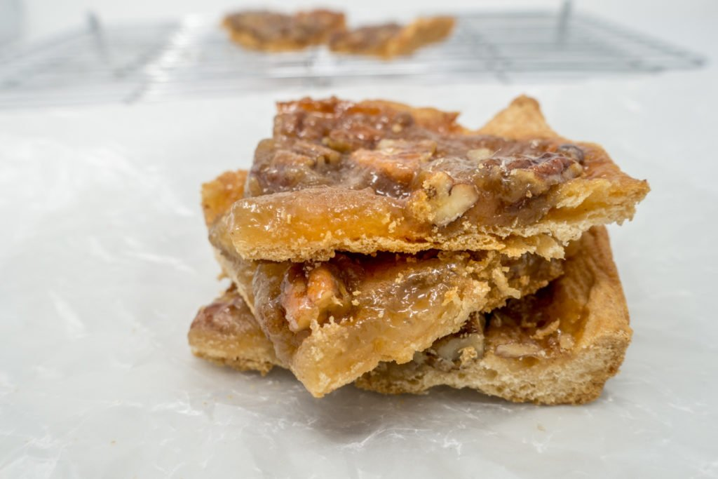 Easy pecan pie bars recipe that's quick and simple to make