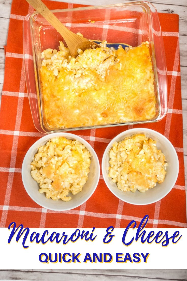 Try this baked homemade mac n cheese recipe