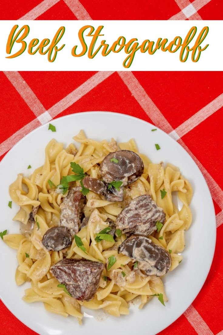 Slow cooker beef stroganoff has tender beef and a rich sauce accented by fresh mushrooms. It's an easy meal any night of the week.
